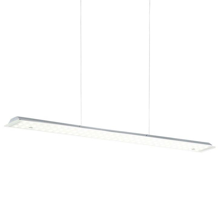 LED Pendelleuchte, Chrom, Glasschirm, FORNES – Bild 5