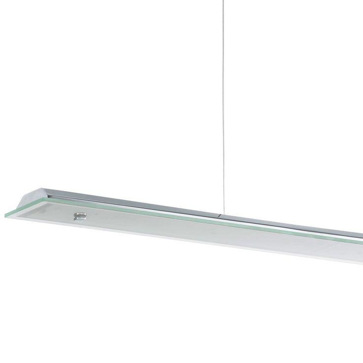 LED Pendelleuchte, Chrom, Glasschirm, FORNES – Bild 3