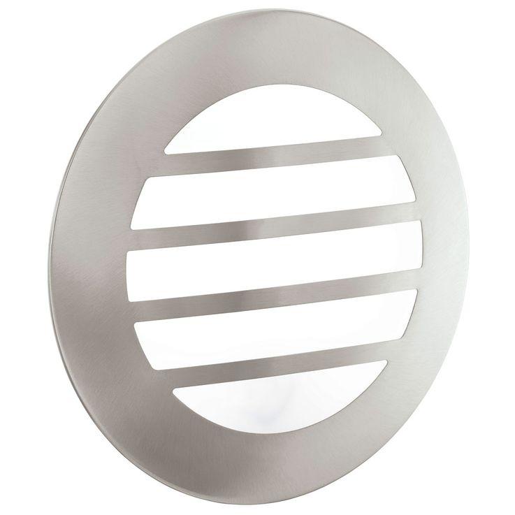 LED Wandleuchte, Edelstahl, Durchmesser 28 cm, CITY 2