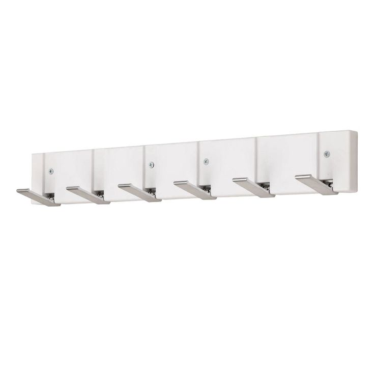 Design clothes hook strip white wall suspension coat rack matt chrome BHP B990396  -3 – Bild 1