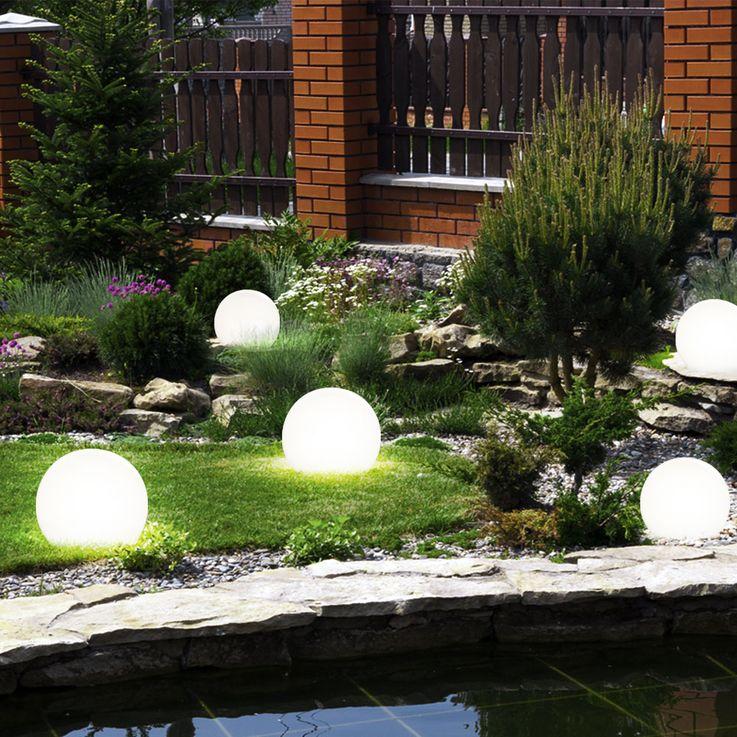5x LED Solar Kugellampen mit Erdspieß, Durchmesser 10 cm – Bild 2