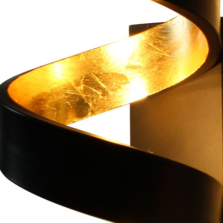 COB LED wall light living room 3-step dimmer spiral lamp black gold Ecolight LED-HELIX-AP3 – Bild 6