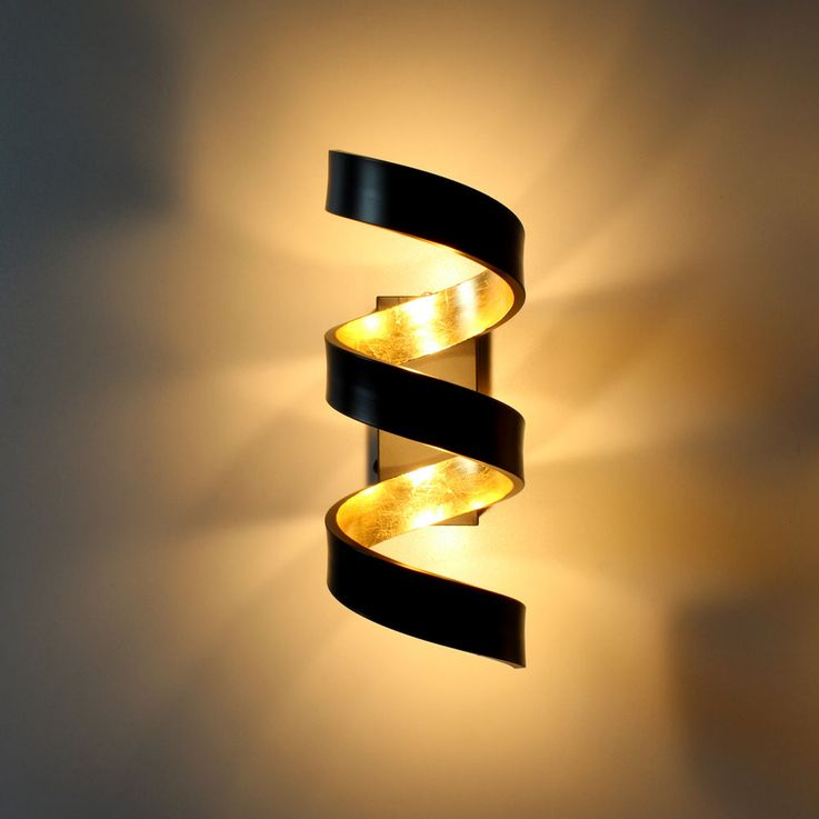 COB LED wall light living room 3-step dimmer spiral lamp black gold Ecolight LED-HELIX-AP3 – Bild 5