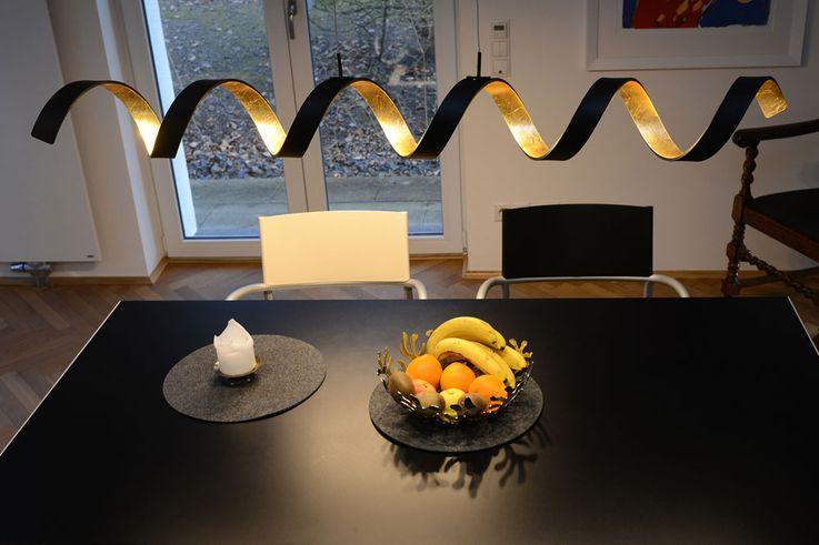 LED hanging lamp living dining room pendulum gold lighting Helix DIMMER light Eco  -Light LED  -HELIX  -S6 – Bild 3