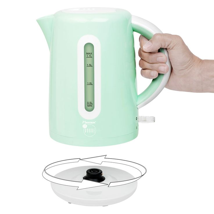 Set of 2 breakfast sets 2  slices toaster bread roll attachment 1.7L water cooker heater cordless mint green – Bild 6