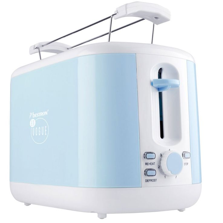 Set of 2 water cooker and 2 slices Toaster light blue water heater bread roll attachment heater – Bild 5