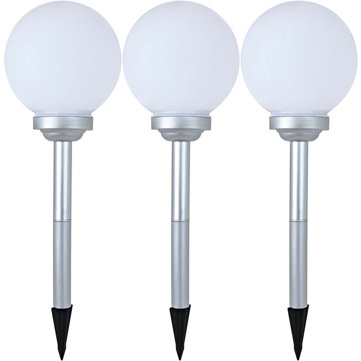 Set of 3 LED solar balls, diameter 20 cm, MALAGA – Bild 1