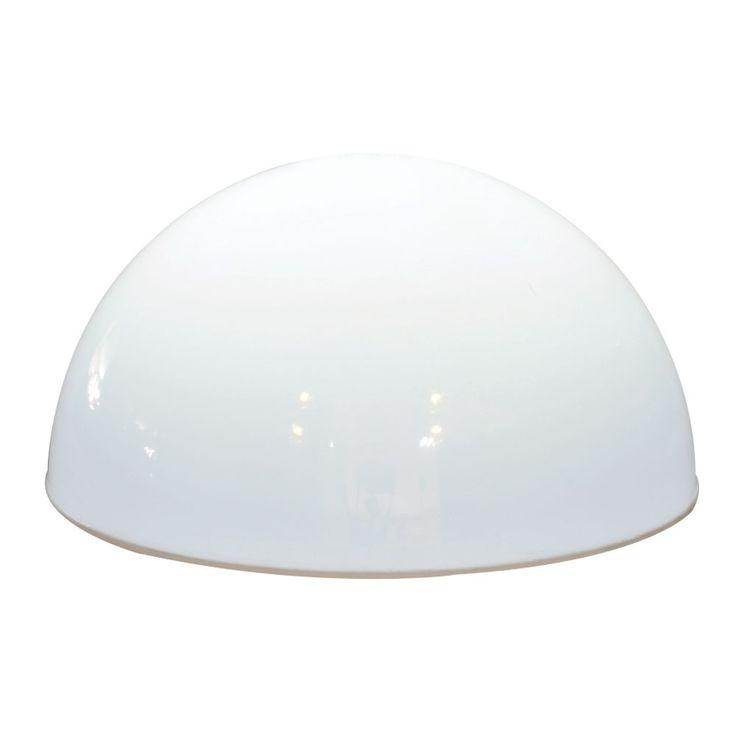 LED Außen Solar Lampe Garten Terrassen Strahler Leuchte halb Kugel Weg Beleuchtung weiß Harms 504699 – Bild 1