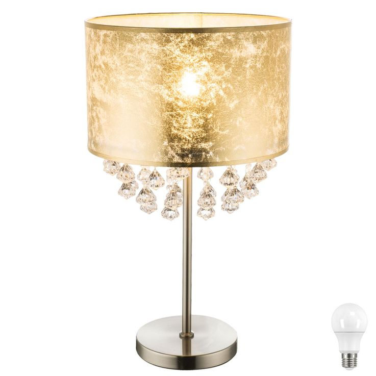 Lampe de table LED en design feuille d'or, hauteur 56cm, AMY – Bild 1