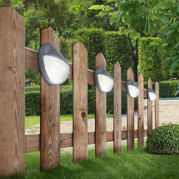 Set of 10 LED fence solar lights, diameter 11 cm – Bild 8