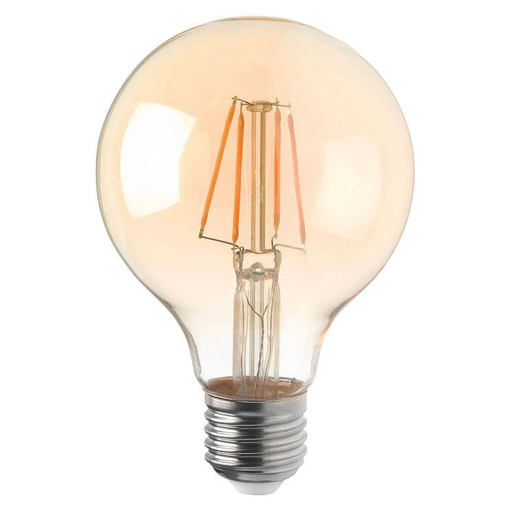 Retro LED 4 Watt Bulb E27 Ball Lamp Amber Glass 280 lm EEK A + DIMMABLE WOFI 9738 – Bild 1
