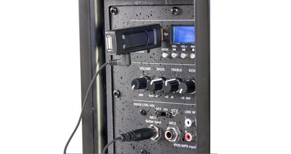 250W Mobile LED Musikanlage mit 32 GB USB-Stick/BT und Mikro – Bild 11
