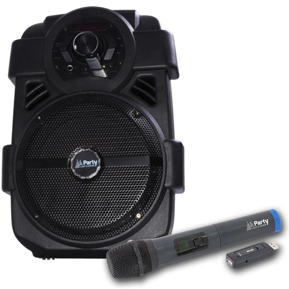 250W Mobile LED Musikanlage mit 32 GB USB-Stick/BT und Mikro