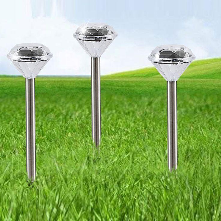 Set of 9 LED solar lamps set in diamond optic look – Bild 4