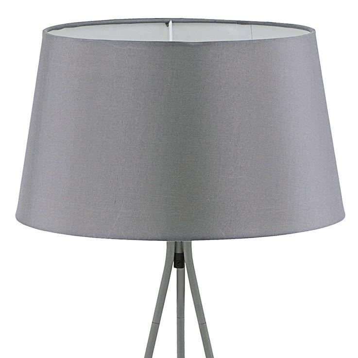 Steh Lampe Wohn Zimmer Textil Decken Fluter 3-Bein Stativ Leuchte grau LeuchtenDirekt 11054-15 – Bild 5