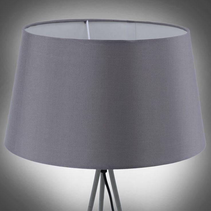 Steh Lampe Wohn Zimmer Textil Decken Fluter 3-Bein Stativ Leuchte grau LeuchtenDirekt 11054-15 – Bild 7