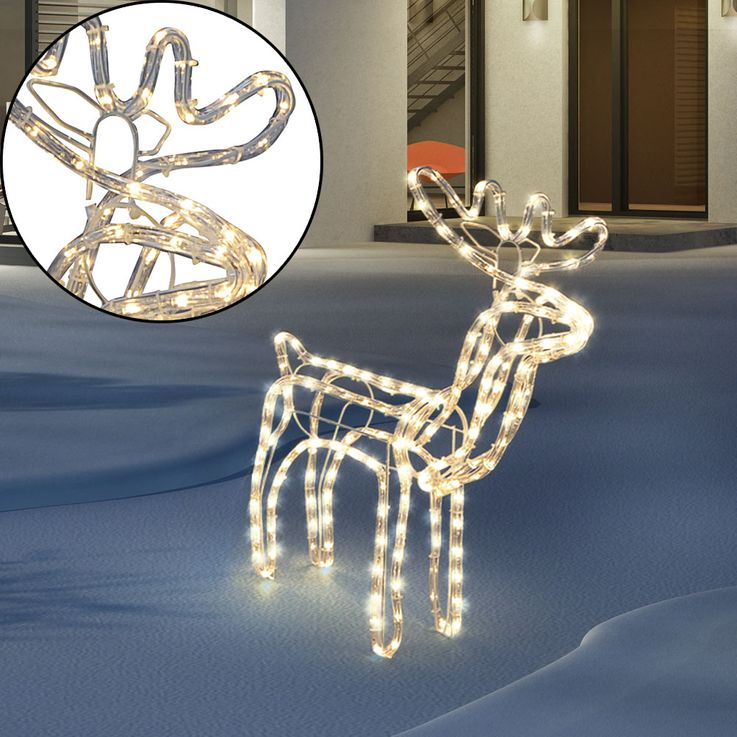 LED Reindeer Luminous Deco Christmas Figurine Outdoor Lamp Lights Tube LightsDirect 86100  -00BH – Bild 3