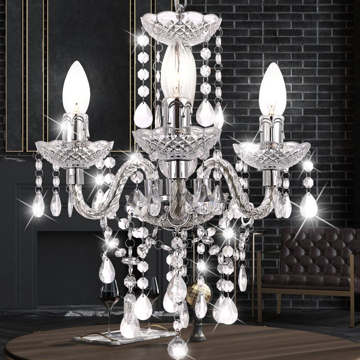 High quality chandelier ceiling lamp ceiling lamp chandelier crystal curtain lamp  Globo 63116-3 – Bild 3