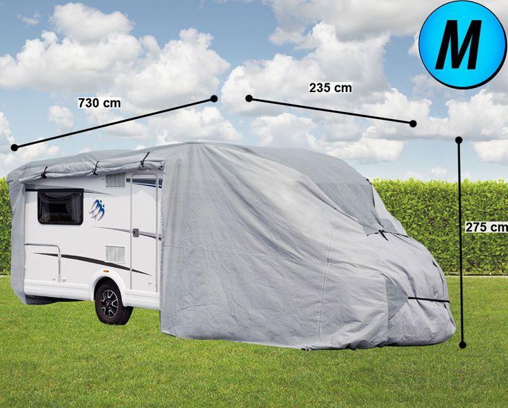 Caravan cover résidentiel molleton mobile tissu garage Gr. M protection bâche hydrofuge  Harms 506040 – Bild 2