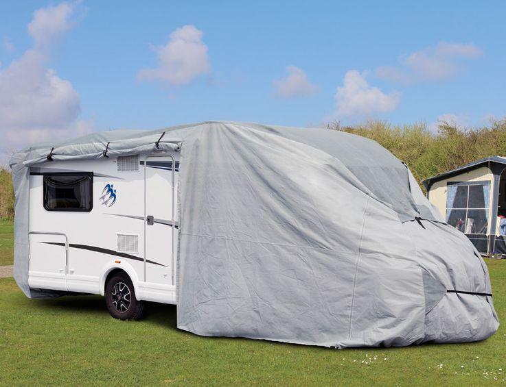 Caravan Abdeckung Wohn Mobil Vlies Stoff Garage Gr. M Schutz Plane wasserabweisend Harms 506040 – Bild 3