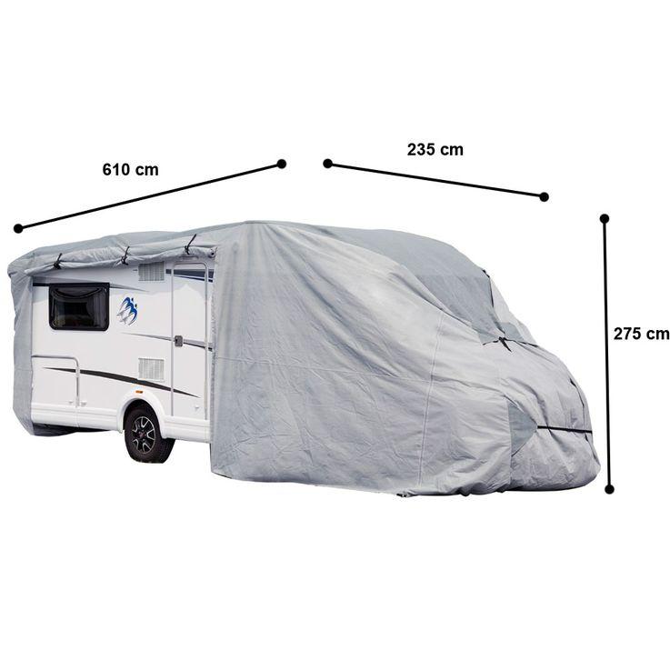 Wohnmobil Abdeck Plane imprägniert Schutz Hülle Haube PP-Vliesstoff Winter Garage Gr. S Harms 506039 – Bild 1