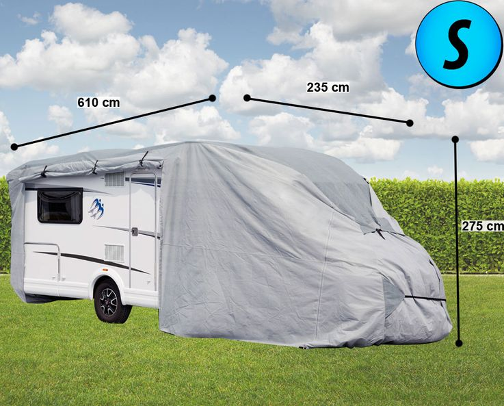 Motorhome cover tarpaulin impregnated protection cover hood PP fleece winter garage Gr. S  Harms 506039 – Bild 2