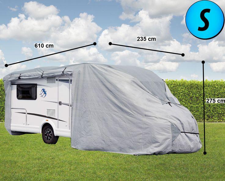 Wohnmobil Abdeck Plane imprägniert Schutz Hülle Haube PP-Vliesstoff Winter Garage Gr. S Harms 506039 – Bild 2