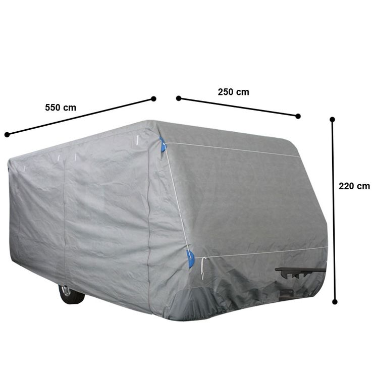 High quality caravan cover tarpaulin Gr. M impregnated protective cover PP nonwoven  Harms 506035 – Bild 1