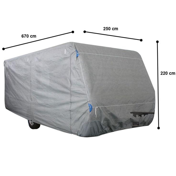 Hochwertige Wohnwagen Abdeck Plane Gr. XL imprägniert Schutz Hülle PP-Vliesstoff Harms 506037 – Bild 1