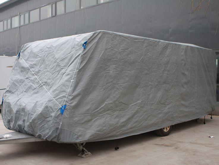 Hochwertige Wohnwagen Abdeck Plane Gr. XXL imprägniert Schutz Hülle PP-Vliesstoff Harms 506038 – Bild 4