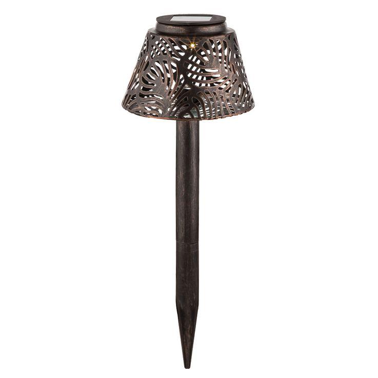 Lampe solaire LED jardin façon prise table lumière éclairage patio broche cuivre  Globo 33002 – Bild 1