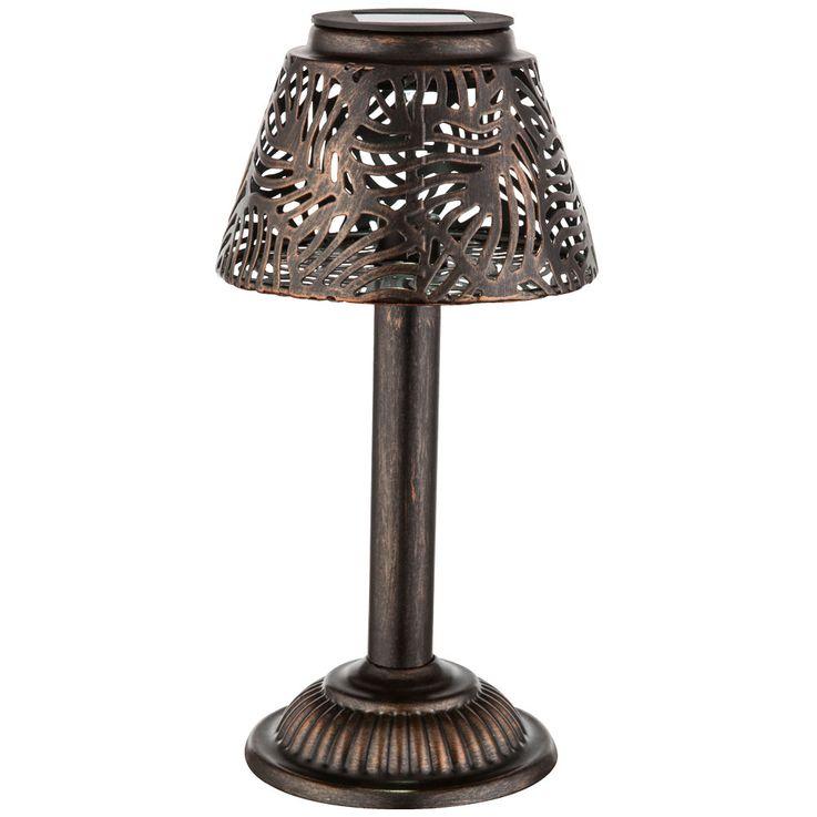 Lampe solaire LED jardin façon prise table lumière éclairage patio broche cuivre  Globo 33002 – Bild 11