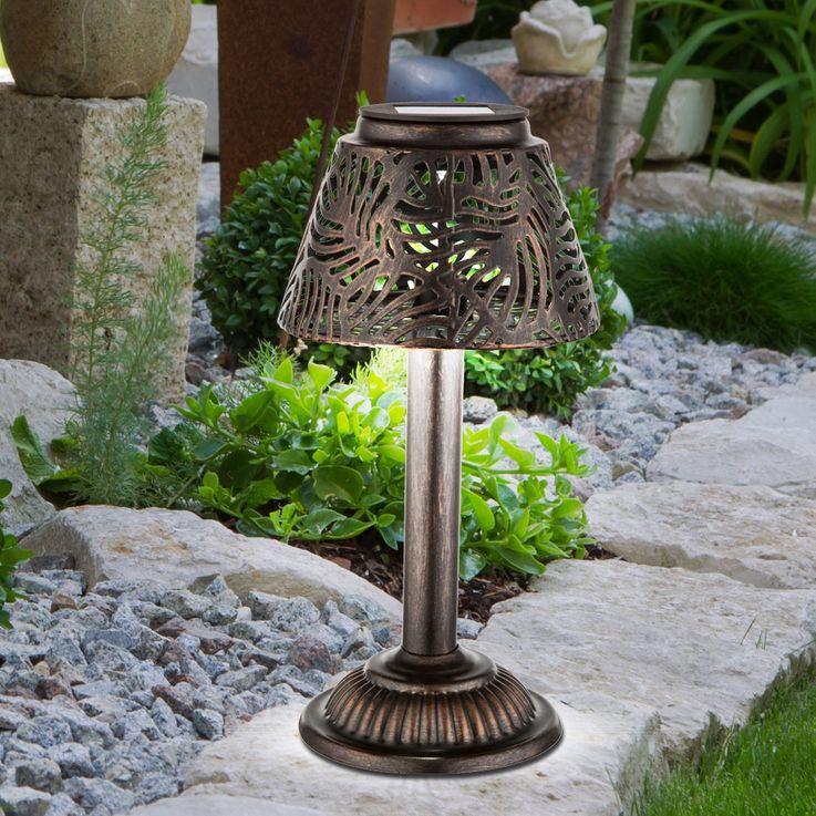 Lampe solaire LED jardin façon prise table lumière éclairage patio broche cuivre  Globo 33002 – Bild 10