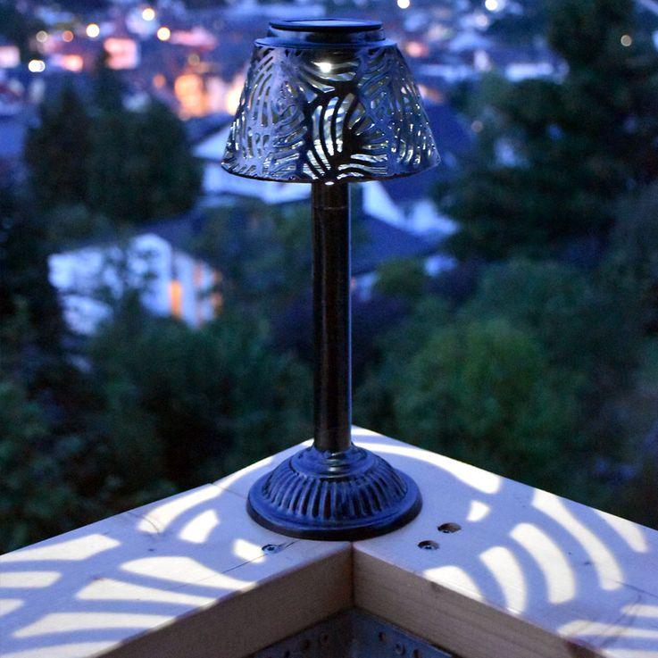 LED Solar Lampe Garten Weg Steck Tisch Leuchte Terrassen Beleuchtung Hof Erdspieß kupfer Globo 33002 – Bild 5