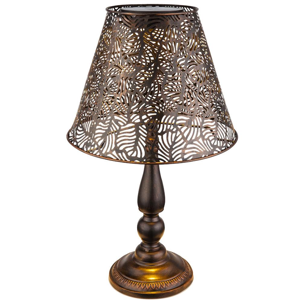 led solar tischleuchte in kupfer h he 60 cm lampen m bel au enleuchten steckleuchten. Black Bedroom Furniture Sets. Home Design Ideas