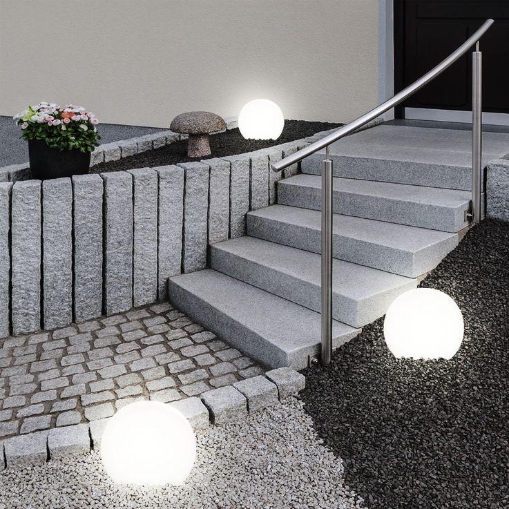 9x LED Solar Stecklampen Kugelform, Durchmesser 10 cm, SOLAR – Bild 8
