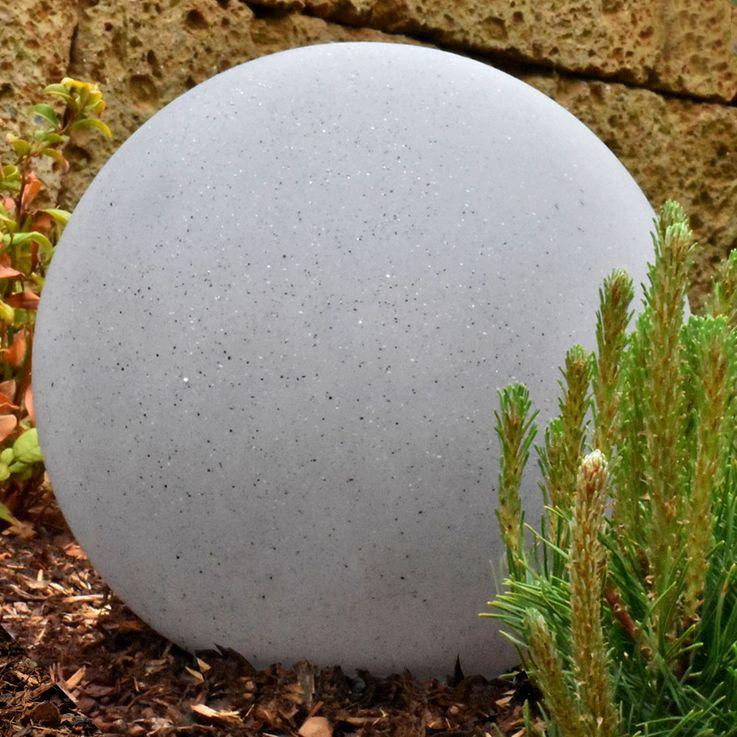 2x LED solar lights, stone look, diameter 30 cm – Bild 5