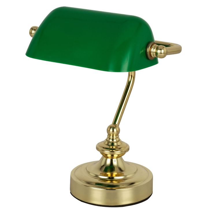 RETRO table reading lamp banker lamp working room spotlight night light green  Globo 24917 – Bild 1