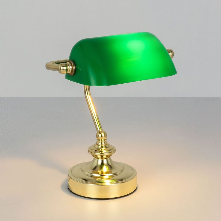 RETRO table reading lamp banker lamp working room spotlight night light green  Globo 24917 – Bild 4