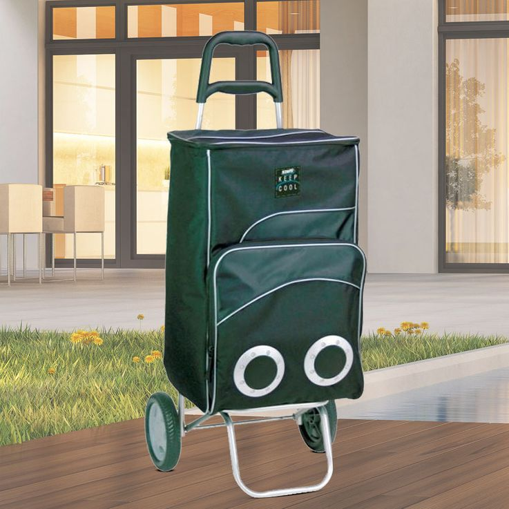 Shopping trolley cooler bag, 12 Volt, pull handle – Bild 2