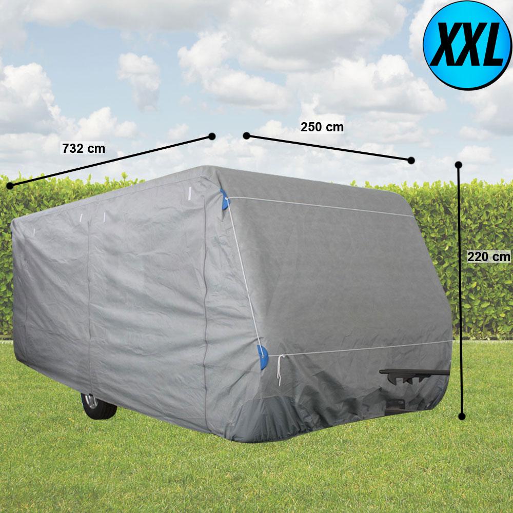 wohnwagen abdeck hauben wetter schutz planen caravan stoff wasserdicht gr s xxl ebay. Black Bedroom Furniture Sets. Home Design Ideas