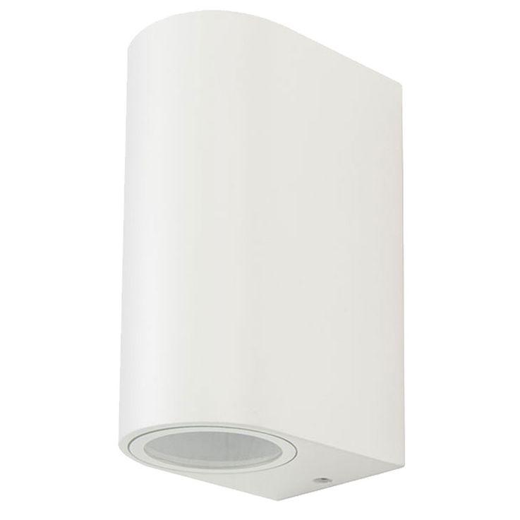 Outdoor wall light facades ALU spotlights UP DOWN lighting house door lamp white V  -TAC 7542 – Bild 1