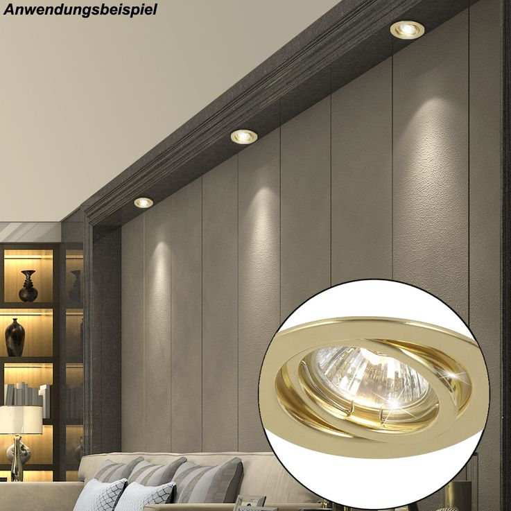 2x recessed downlight made of brass with movable spot – Bild 4