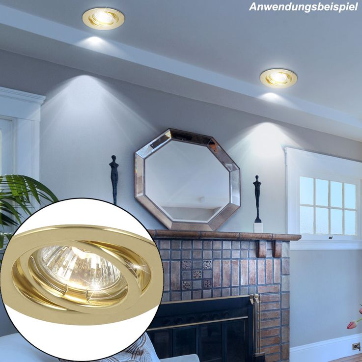 2x recessed downlight made of brass with movable spot – Bild 3