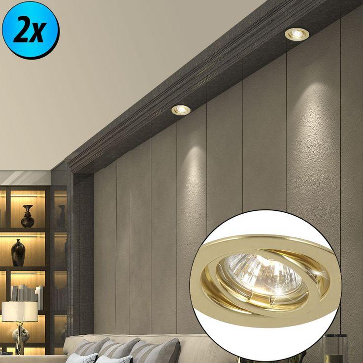 2x downlight encastré en laiton avec spot mobile – Bild 2