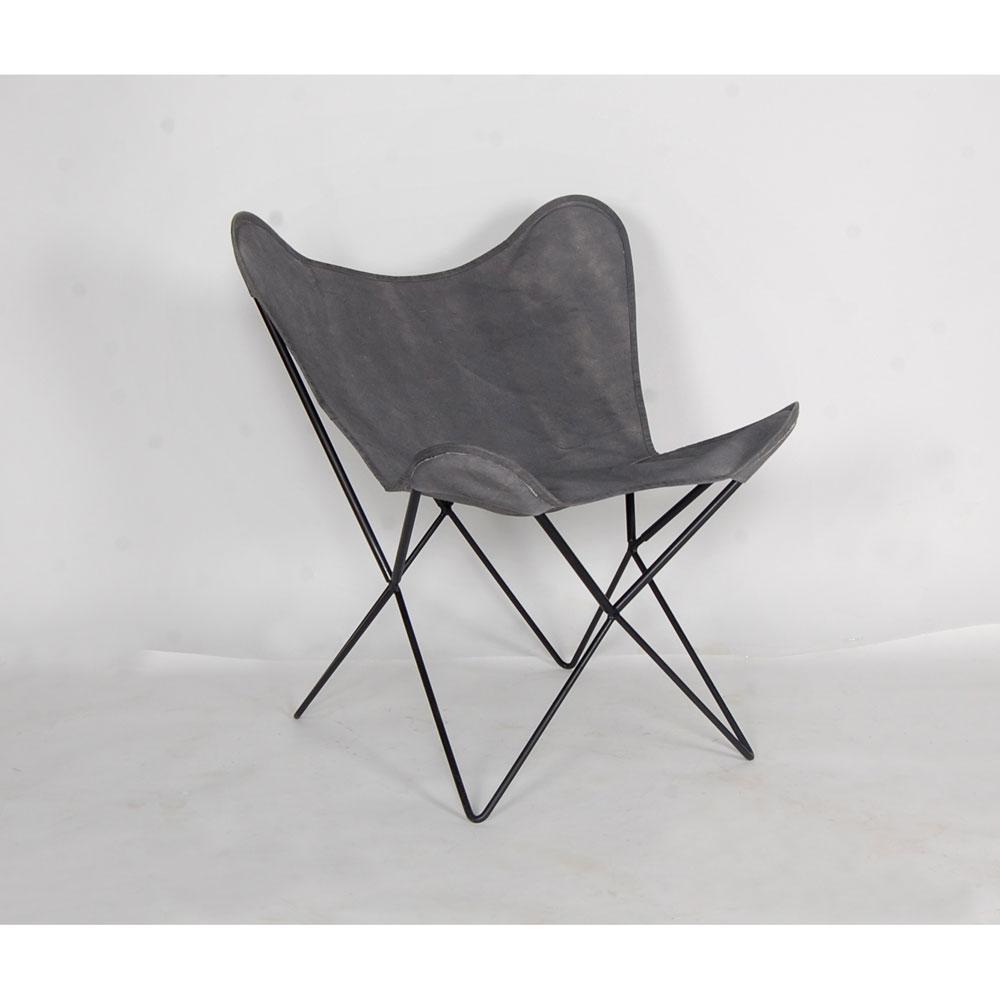 Gartenstühle - Stuhl, Gestell Metall, Bezug Canvas grau  - Onlineshop ETC Shop