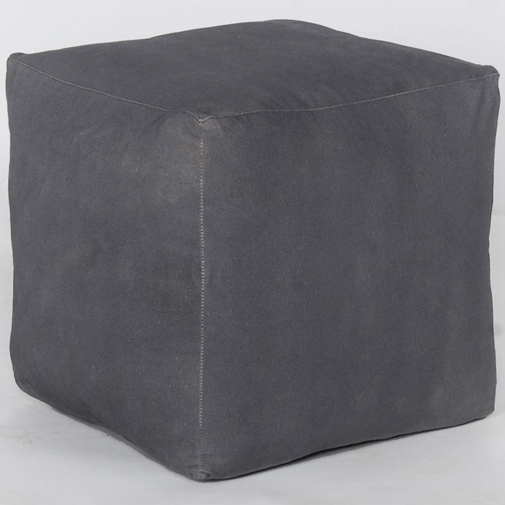 Hocker, Bezug Canvas grau