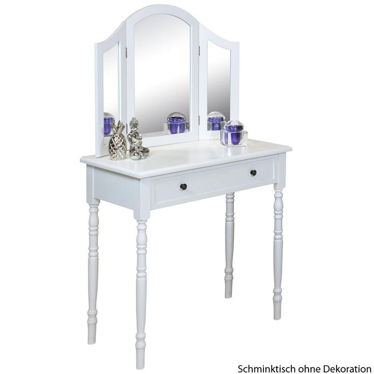 Cosmetic make-up table mirror white drawer BHP B421906D  -3 – Bild 1