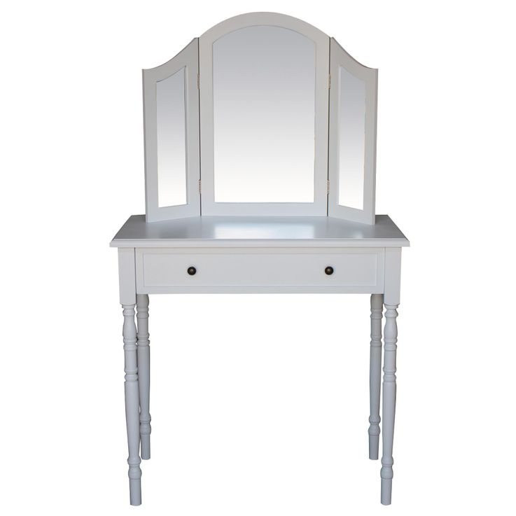 Cosmetic make-up table mirror white drawer BHP B421906D  -3 – Bild 2