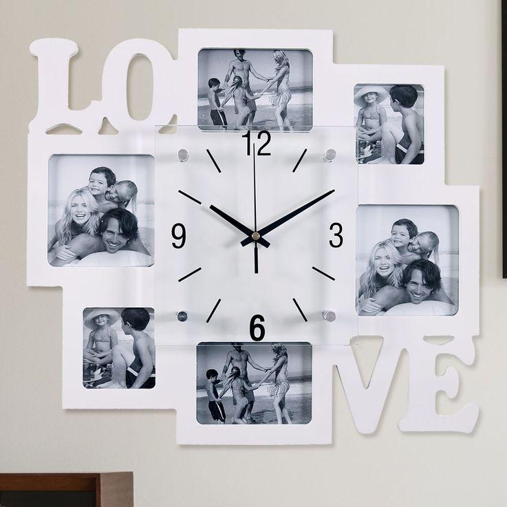 Horloge murale images deco photo salon analogique temps verre affichage chiffres noirs BHP B991742  -3 – Bild 2